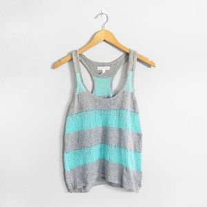 5/$25 🌿 AEROPOSTALE Blue Grey Knitted Tank Top